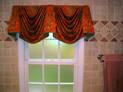 Empire valance for bathroom window in NYC