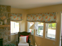 Relaxed valance in living room windows, New York