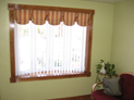 Queen Anne valance and vertical blinds in NYC