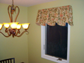 Sheffield valance for dining room window in Long island, NY