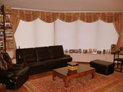 Swags and drapes along with cellular shade in Manhattan, NY